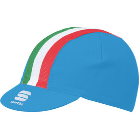 Sportful Italia Casquette, electric blue/tricolore